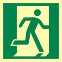 Znak drzwi ewakuacyjne w prawo