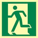 Znak drzwi ewakuacyjne w lewo