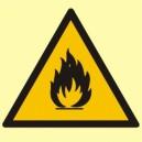 Znak Niebezpieczeństwo pożaru-materiały łatwopoalne