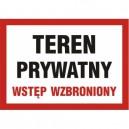 Znak Teren prywatny wstęp wzbroniony