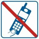 Piktogram Zakaz używania telefonów komórkowych