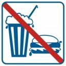Piktogram Zakaz spożywania posiłków i napojów