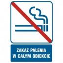 Piktogram Zakaz palenia w całym obiekcie