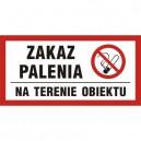 Znak Zakaz palenia na terenie obiektu