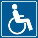 Piktogram Droga dla niepełnosprawnych