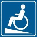Piktogram Podjazd dla niepełnosprawnych