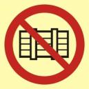 Znak Nie zastawiać